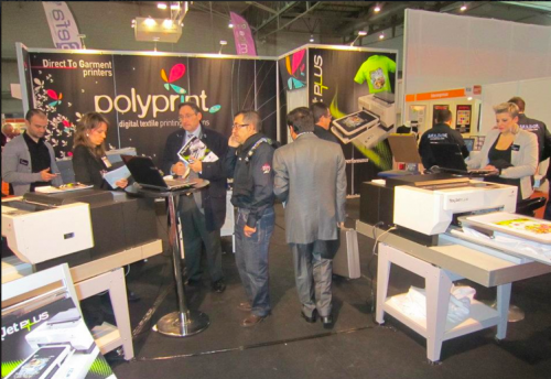 POLYPRINT SHOWCASES TEXJET PLUS PRINTER AT FESPA DIGITAL
