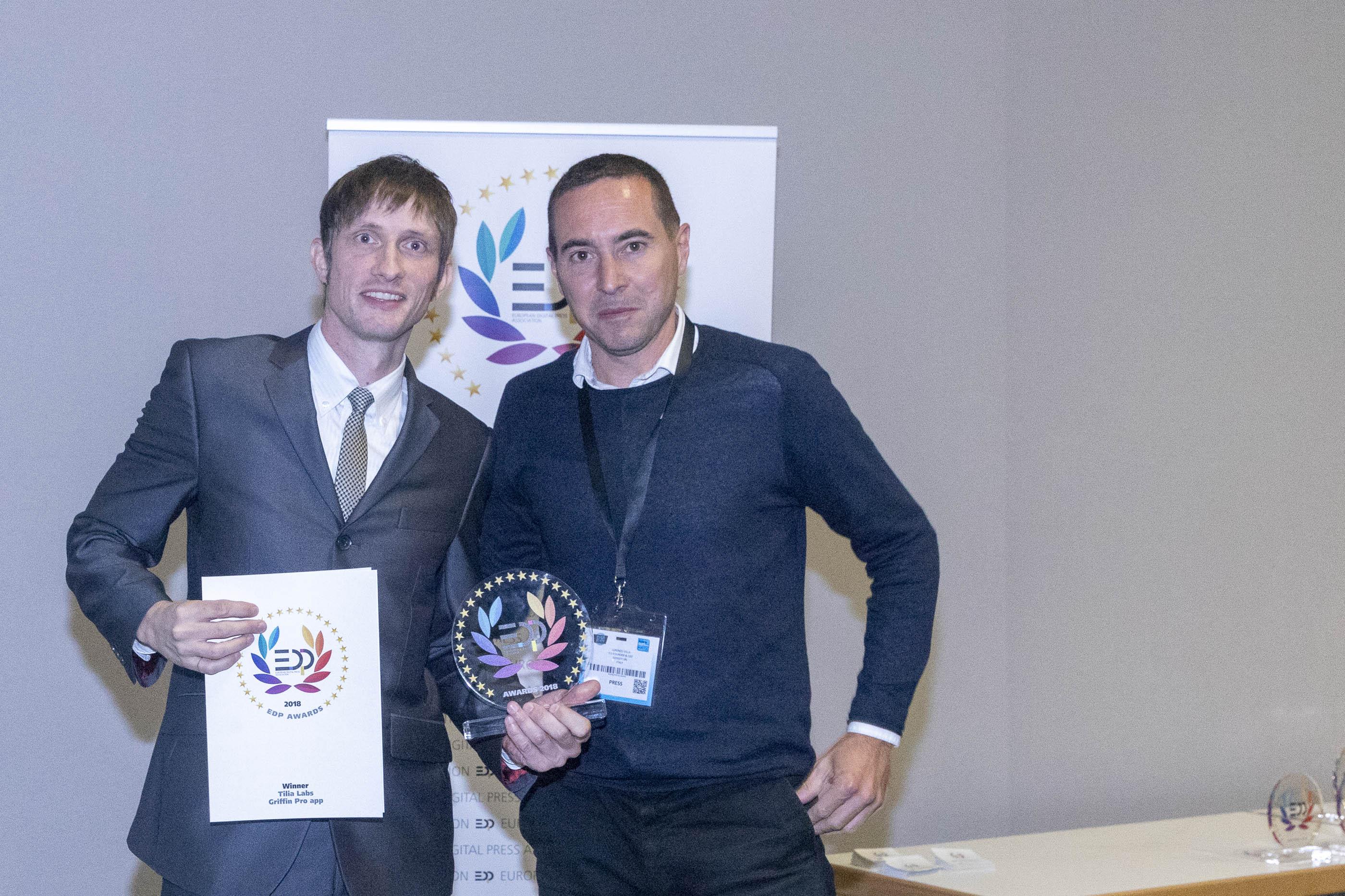 Tilia Labs Receives EDP Award For Griffin Pro App For Optimising