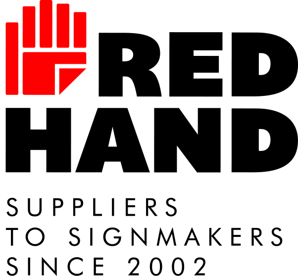 Red Hand Sign Supplies showcasing wide Range of signage solutions at Sign Africa Zambia Expo.