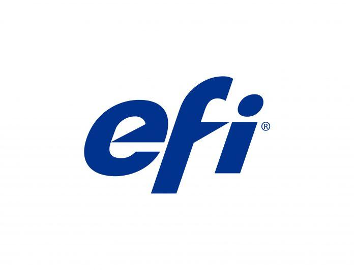EFI unveiling Vutek FabriVU 340i at FESPA 2018.