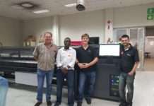 Graficomp installs HP L1500 to Fishwicks.