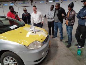 Zimbabwe News: Penanel Trading host vehicle wrapping workshop.