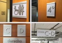 Vista System installs flat signage system.