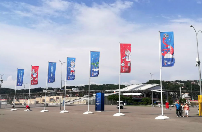 Mimaki flys flags for Simvol.