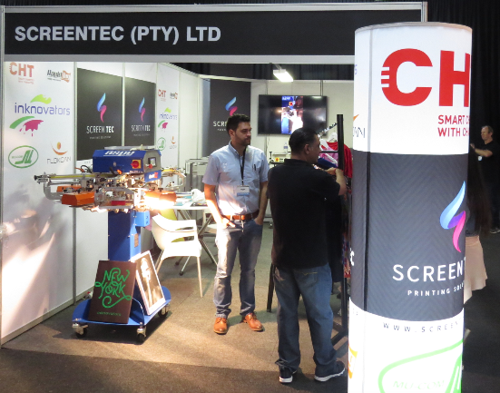 Screentec showcases tag printers, dryers, glitters, inks and more at Sign Africa and FESPA Africa Expo.
