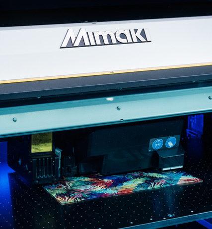 Mimaki Showcasing Comprehensive Portfolio.