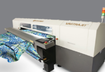 ColorJet demonstrating Vastrajet Direct To Fabric printer.