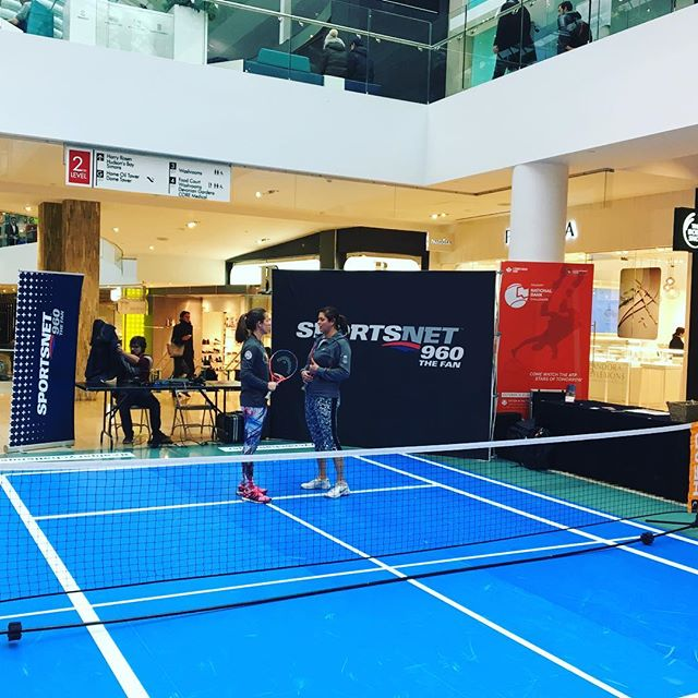 Drytac transforms shopping mall space into tennis court.