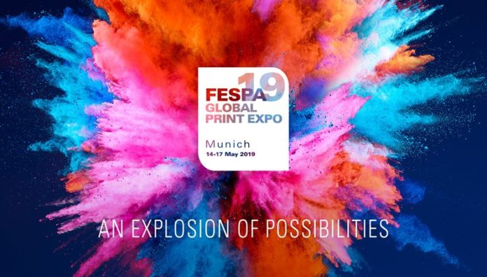 FESPA 2019 strapline underlines boundless opportunities.