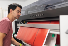 Canon reports vast utilisation of Océ Colorado 1640 printer.
