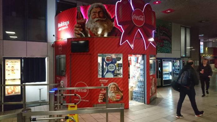 Vinehall Displays Transforms Coca Cola Kiosk Using Roland SOLJET
