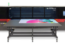 EFI Installs VUTEk h3 superwide-format LED inkjet printer.