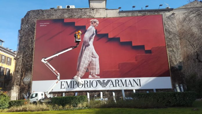 Colorzenith And Emporio Armani Launch New Sneakers With 3D Billboard