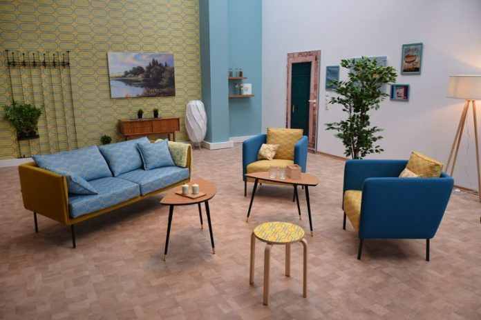 Mimaki showcasing innovations for furniture and interior applications.