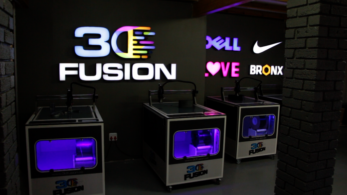 3D Fusion Showcasing 3D Printers At GPS Pop Up Activation