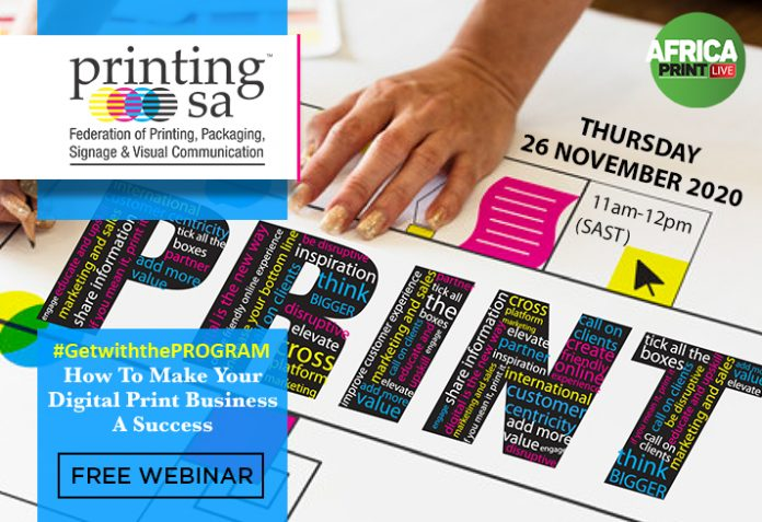 How To Make Your Digital Print Business A Success WIth Printing SA's Free Webinar