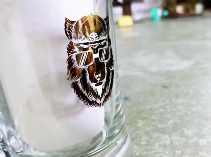 Video: Transferring A Gold Foil Logo Onto Glass