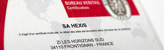 HEXIS Reports Multiple Certifications