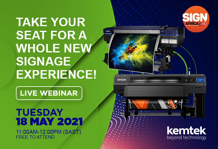 Live Webinar: Kemtek And Epson Invite You To A Whole New Signage Experience