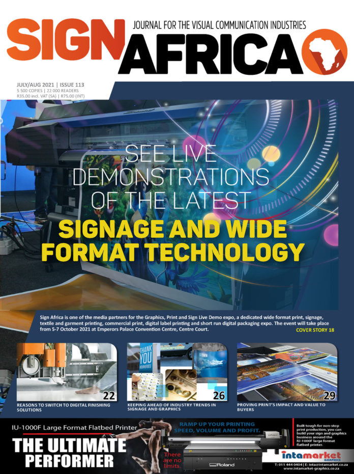 See Live Demonstrations Of The Latest Signage And Wide Format Technology At The Graphics, Print & Sign Expo